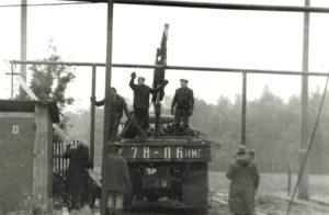 1978 г. Ремонт газовой коммуникации на территории автобазы №3
